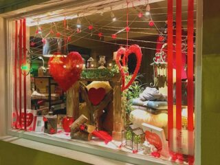 Not to toot our own horn but we think our Valentine's Day windows are super! ❤️   #millarsconnemara #connemara #clifden #irishboutique #localboutique #galwayboutique #shoplocal #shopirish #wildatlanticway #valentines #valentinesday #lovehearts #windowdisplay #windowdesign #shopwindow #shopwindows #shopwindowdesign #shopwindowdisplay