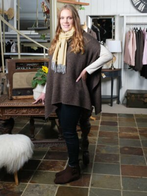 Crea brown poncho jumper