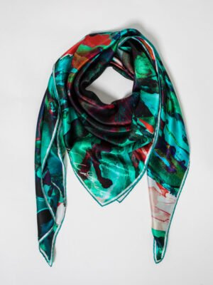 XL Lough Inagh Silk Square scarf