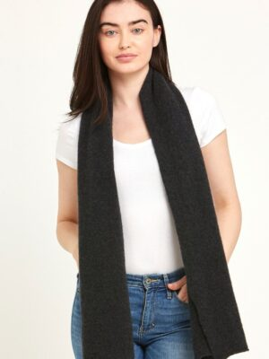 Cashmere Scarf Charcoal