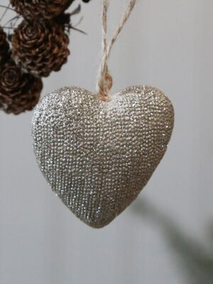 Gold Heart Tree Decoration