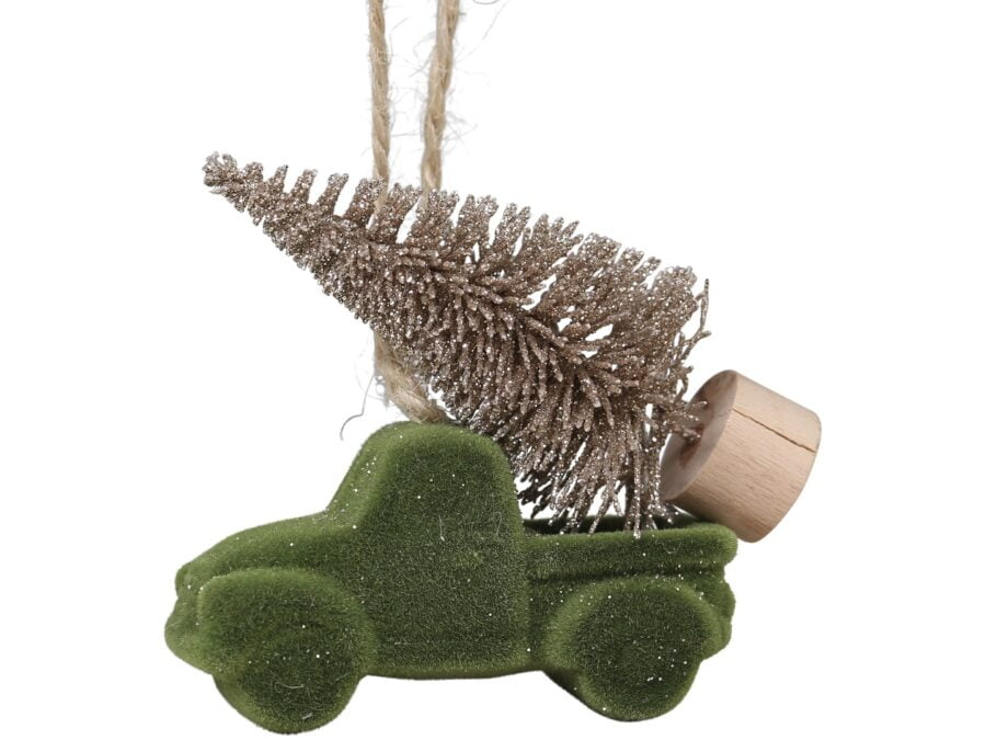 Car with tree decoration