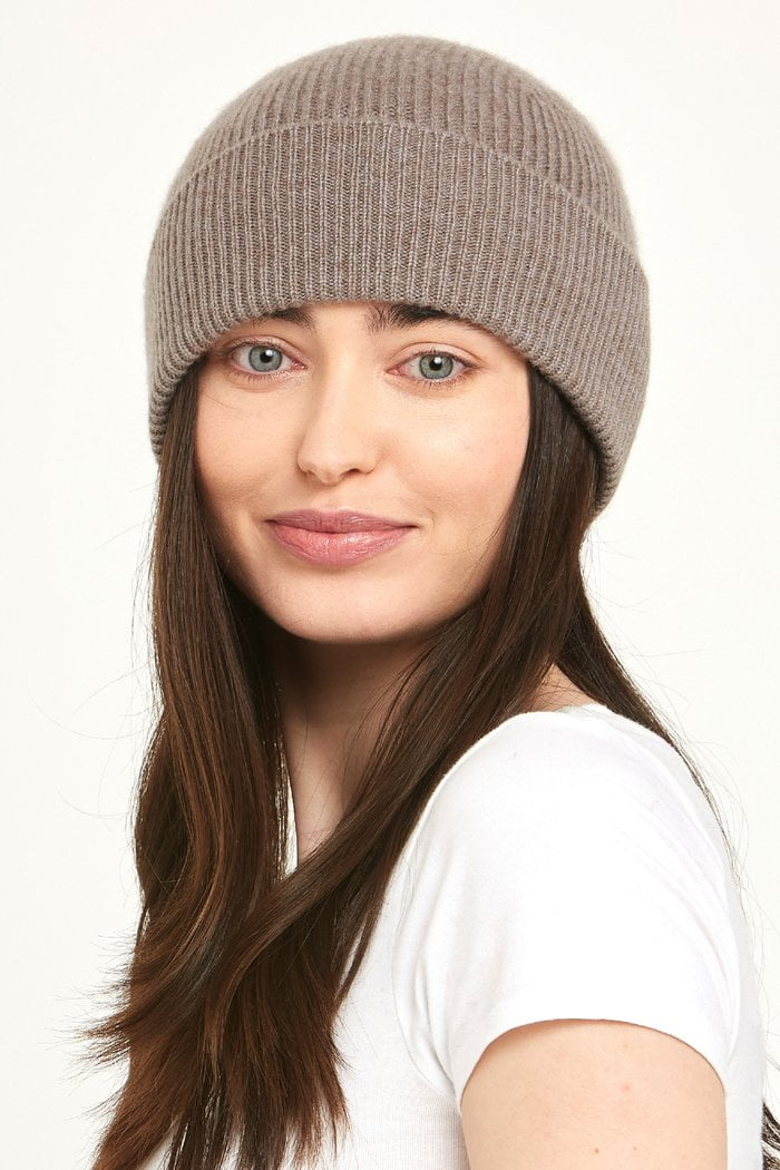 Brown Cashmere Hat