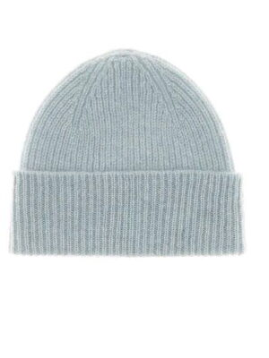 light blue baby cashmere beanie hat
