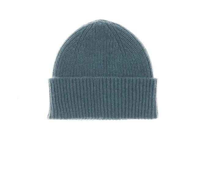 Teal baby cashmere hat