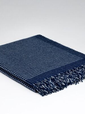 Millars Cashmere and Merino throw navy alp
