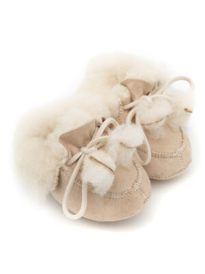 baby sheepskin bootie tobacco colour