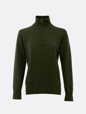 Dubarry Coleraine Zip Sweater Perino Olive