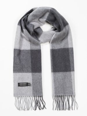 Merino wool grey mix scarf