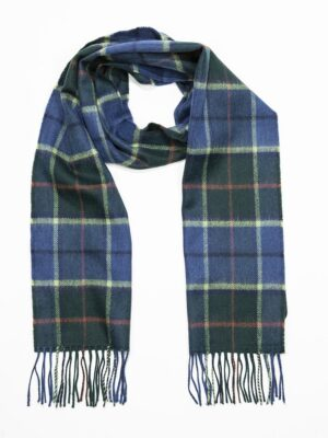 Merino wool blue/green tartan