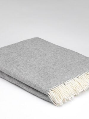 Supersoft Throw - Uniform Grey Herringbone