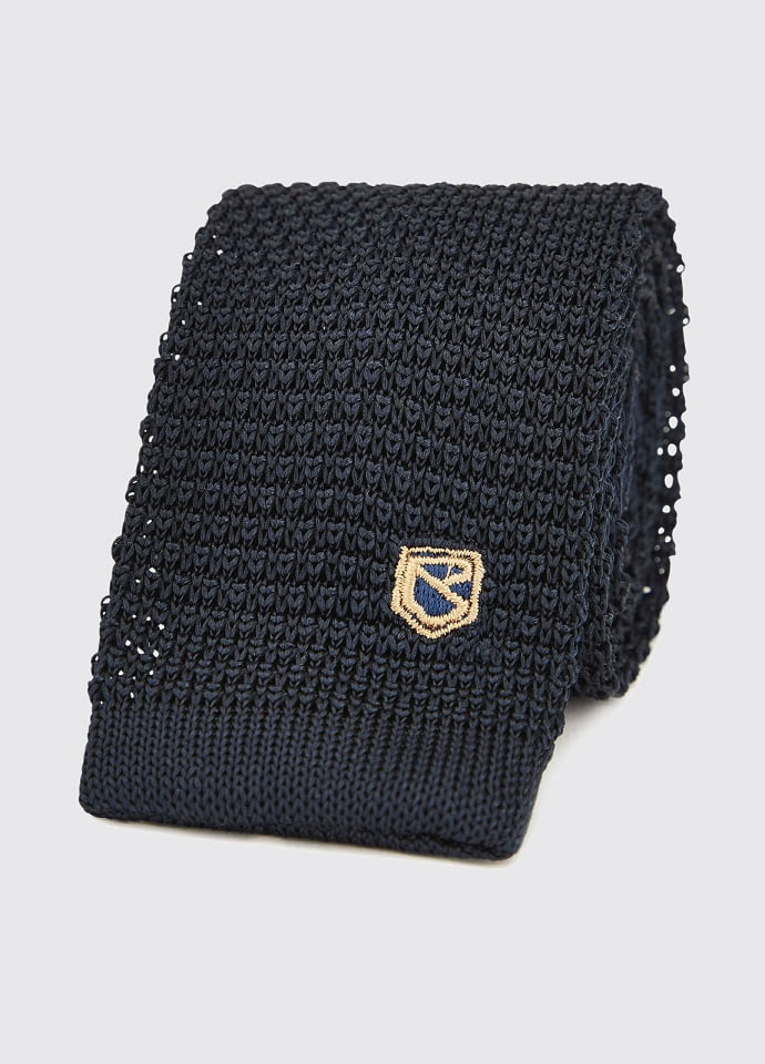 Dubarry Navy Knitted Tie