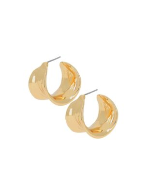Dansk Fluid Leaf Hoop Earrings