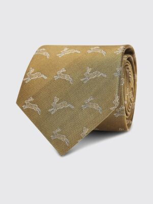 Dubarry Lacken Gold Silk Tie