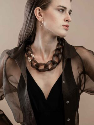 Dansk Quiver Brown Necklace
