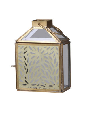 brass lantern with cutout detail