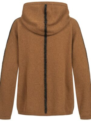 Zoe Hooded Cashmere Sweater Back